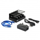 MAIWO K305A 4-slot USB3.0 + eSATA + RAID HDD Dock Station - Black (24TB Max.)