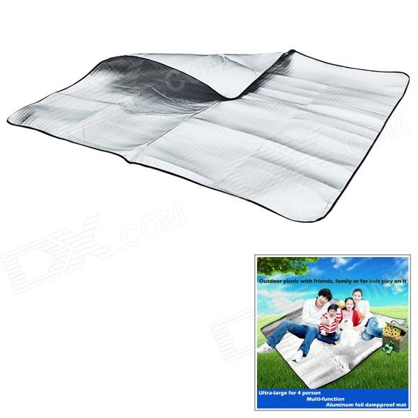 WindTour Outdoor Moisture-Proof Picnic Blanket Camping Mat Pad - Silver (150 x 200cm) aotu at6210 215 x 215cm camping moisture proof mat