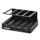 MAIWO K307B 4-slot 1-to-3 USB3.0 + eSATA HDD Dock Station - Black (3TB Max.)