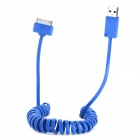 USB Male to 30 Pin Male Flexible Charging Data Cable for iPhone 4 / 4S / 3GS / iPad 2 - Blue