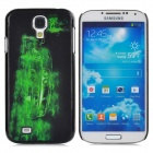 Cool 3D Car Style Protective Plastic Back Case for Samsung Galaxy S4 i9500 - Green + Black