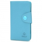 Protective PU Leather Case w/ Card Holder Slots for Sony S36h - Blue