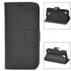 Stylish Protective PU Leather Case for Samsung Galaxy S4 Mini i9190 - Black