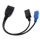 Micro USB OTG Cable w/ Power Port for Samsung i9000 / i9300 / i9220 / N7100 / i9500 - Black