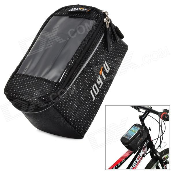 JOYTU JOYB-22 Bike Bicycle Upper Tube Mobile Phone Bag w/ Transparent Window - Black - DXBike Bags<br>Brand JOYTU Model JOYB-22 Quantity 1 Color Black Material 1680D Functions Bike bag for carrying mobile phones GPS etc. Best Use Cycling Gender Unisex Waterproof Yes Other Features With Transparent Window for touch screen mobile phones Packing List 1 x Bag<br>