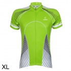 LAMBD HH88 Cycling Short Sleeves Jersey for Men - Green + White (Size XL)