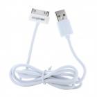 DiscoveryBuy 30-Pin Male to USB 2.0 Male Charging Data Cable for iPod/iPhone/iPad - White (105 CM)