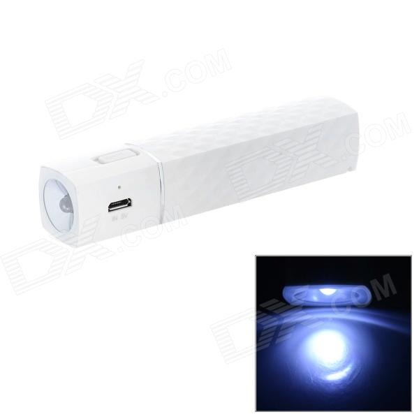 2600mAh 5V bewegliches Energien-Bank w / Bright LED Light for iPhone 5 - Weiß