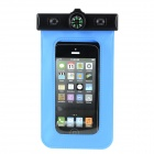 Waterproof Armband Bag Case w/ Compass for Iphone 5 - Blue