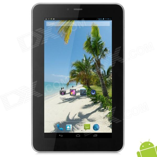 """SANEI N70 7"""" Android 4.1 Tablet PC w/ 512MB RAM / 4GB ROM / 1 x SIM / 3D Accelerator - Silver Grey"""