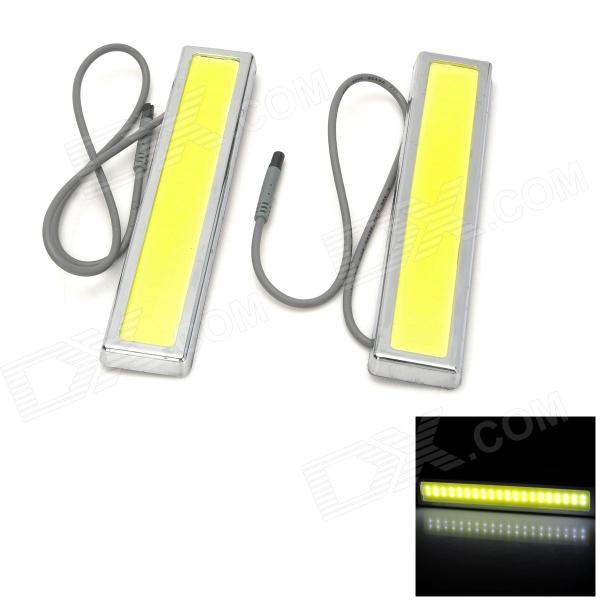 3.6W 134lm COB 36-LED White Light Integrated Daytime Running Lamp (2 PCS) led drl daytime running light for ford fiesta 2013 16 with wireless switch top quality