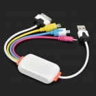 USB to 30-Pin / Mini USB / Micro USB / DC 2.0 Charging Cable for iPhone/ Nokia/Samsung - Multicolor
