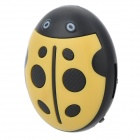 HYTJK007 Cute Beetle Style TF MP3 Music Player - Yellow + Black (16GB Max.)