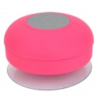 BTS-06 Portable Rechargeable Water Resistant Bluetooth Speaker w/ Microphone - Deep Pink