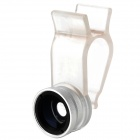 Universal Wide Angle + 0.67X Macro Lens Set for Iphone / Ipad / Samsung + More - Silver
