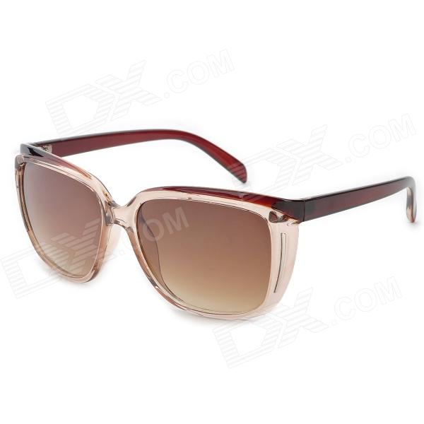 Arnett FD720 Fashion Brown Resin Lens UV400 Protection Sunglasses for Women - Brown cy8150 fashion women s resin uv400 protection sunglasses leopard pattern frame