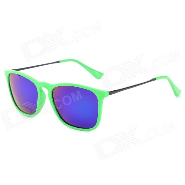 4187 Fashion UV400 Protection Polarized Sunglasses - Green + Black stylish uv400 protection polarized sunglasses black green