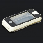 Waterproof Shockproof Pressure-resistant Protective Case for Iphone 4S / 4 - Black + White