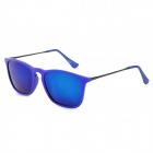 4187 Fashion Resin Blue REVO Lens UV400 Protection Polarized Sunglasses - Deep Blue