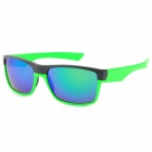 Oreka 7891 Fashionable UV400 Protection Sunglasses - Black + Green