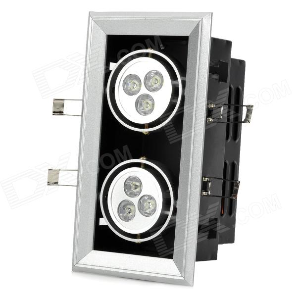 6W 100lm 6500K 6-LED Cold White Light Ceiling Lamp/Down Light
