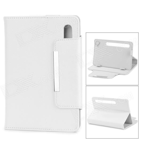 Universal Flip Open PU Leather Case for 7 Tablet PC - White pu leather case for ipad mini 1 2 3 7 9 inch universal tablet case for huawei t1 701 m2 7 sleeve bag for samsung tab 3 4