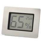 "1.5"" LCD Thermometer Hygrometer - Silver (1 x CR2032)"