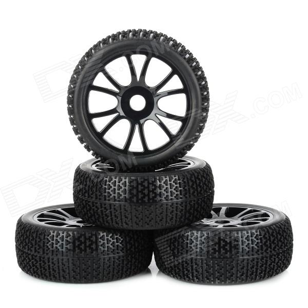 Replacement 1 / 8 Off-road Vehicle Car Tire Tyre (4 PCS) 1 10 rubber on road racing car model replacement tire black 4 pcs