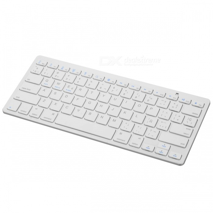 clavier espagnol externe bluetooth v3 0 78 touches pour tablette ordinateur portable blanc. Black Bedroom Furniture Sets. Home Design Ideas