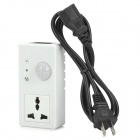 Human Body Sensor Voice-Activated Socket - Black + White (US Plug)