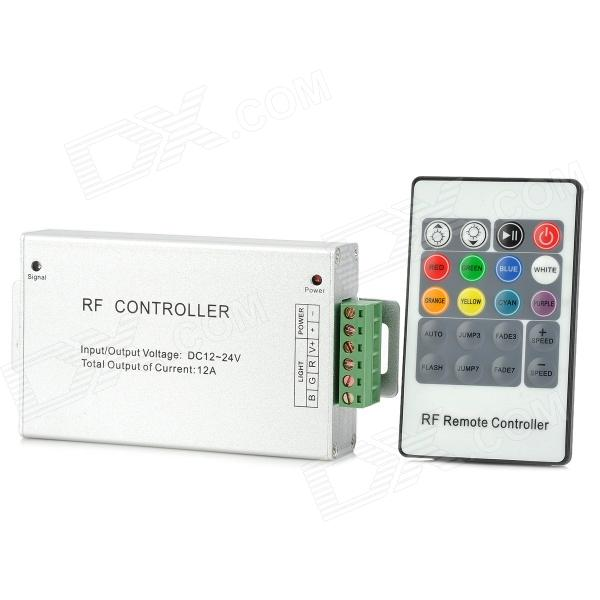216W 20-Button RGB Strip Aluminum Case RF Controller freeshipping dc12v 24v 12a common anode 3 channel dmx 512 decoder controller for led strip light