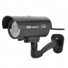 XYT-2600 Realistic Dummy Surveillance Security CCTV Camera w/ Flashing Red LED - Black