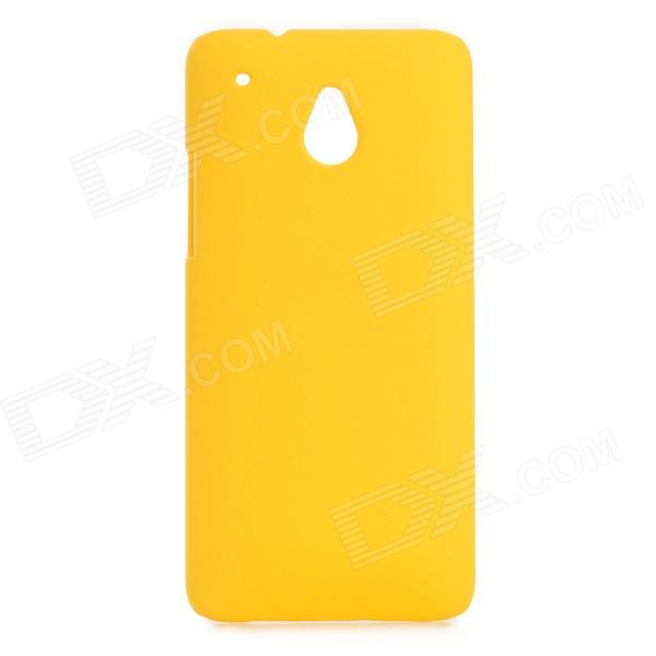 Protective Baking Finish Plastic Case for HTC One Mini / M4 - Yellow protective plastic back case for htc one mini m4 pink