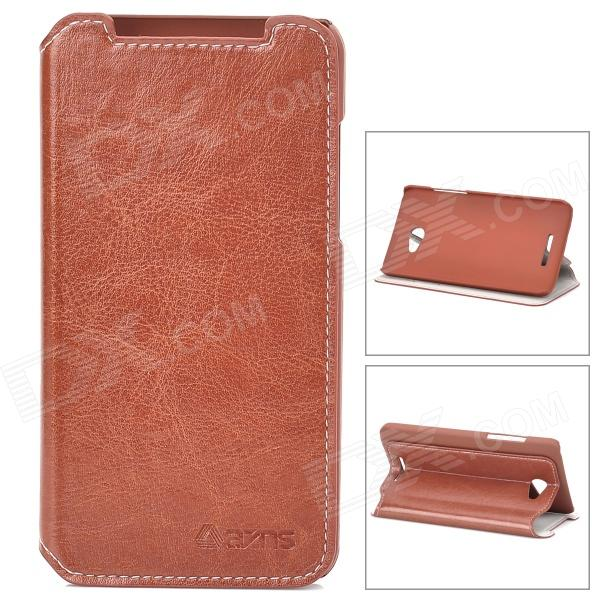 Azns Stylish Protective PU Leather Case for HTC X920e - Brown azns protective pu leather case for samsung i8552 red