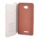 Azns Stylish Protective PU Leather Case for HTC X920e - Brown