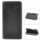 Azns Stylish Protective PU Leather Case for Huawei P6 - Black
