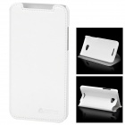 Azns Stylish Protective PU Leather Case for HTC X920e - White