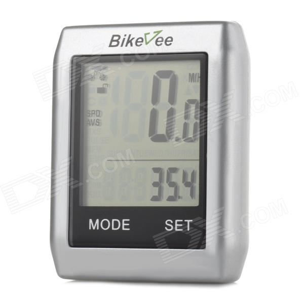 BIKEVEE BKV-6000 2.2 Display Screen Bike Computer - Silver (1 x CR2032)