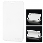 Azns Stylish Protective PU Leather Case for vivo Xplay - White