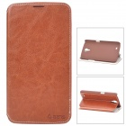 Azns Stylish Protective PU Leather Case for Samsung i9200 - Brown