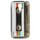 Cassette Pattern Protective PC Back Case for Samsung Galaxy S4 Mini i9190 - Grey + Black + White
