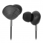 KEEKA KA-21 Stylish Shell Shaped Universal 3.5mm Jack Wired In-ear Headset - Black + White