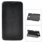 Azns Stylish Protective PU Leather Case for Samsung i9200 - Black