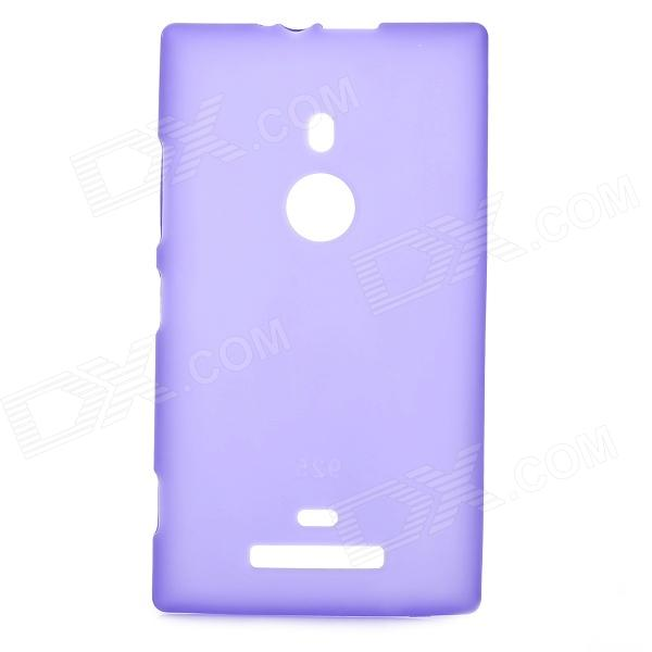 Protective Silicone Soft Back Case for Nokia Lumia 925 - Deep Purple remax protective silicone back case w screen protector film for nokia lumia 820 translucent white