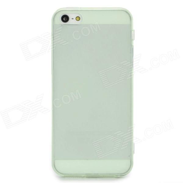 Protective TPU Soft Back Case Cover w/ Anti-Dust Plug for Iphone 5 - Translucent Green protective pc tpu back case for iphone 5 w anti dust cover white light green