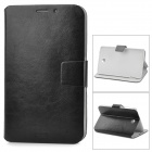 Protective Soft Lichee Pattern PU Leather Case for Samsung P3200 - Black