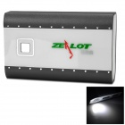 Universal Dual-USB Portable 10400mAh Power Bank w/ LED Flashlight - Black + White