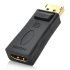 Display Port DP Male to HDMI Female Connector Adapter - Black + Golden