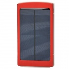 Universal Dual USB Output 10000mAh Solar Energy Powered Power Bank - Red + White