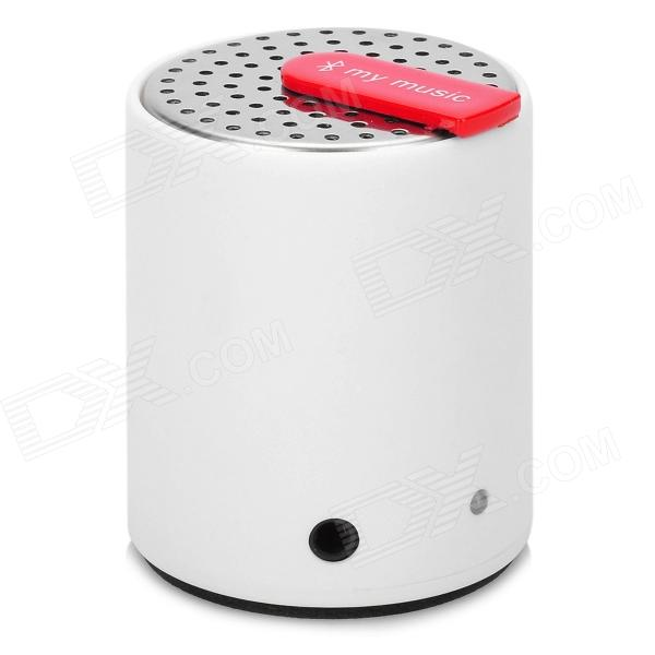 BL-09 Mini 3W 2-CH Bluetooth V2.0 Speaker - Silver + White + Black